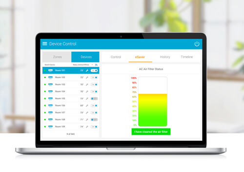 Keep track of the usage of air filter and get timely alerts via cielo world's air filter status feature