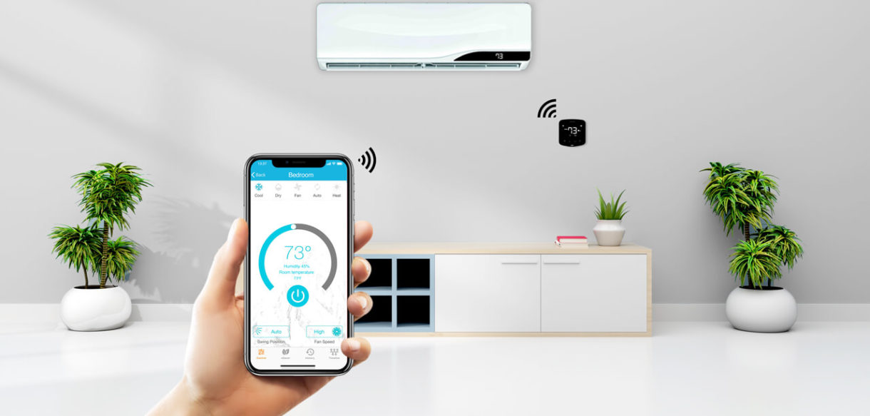Control your air conditioners and heat pumps through your phone.