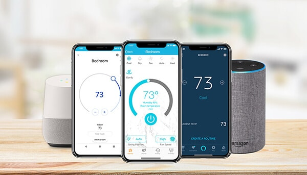 Cielo devices work with multiple types of mobile apps including Cielo Home App, Amazon Alexa App and Google Home App. Additionally, managing your ACs & Heat Pumps is now possible with simple voice commands using Amazon Alexa or Google Home