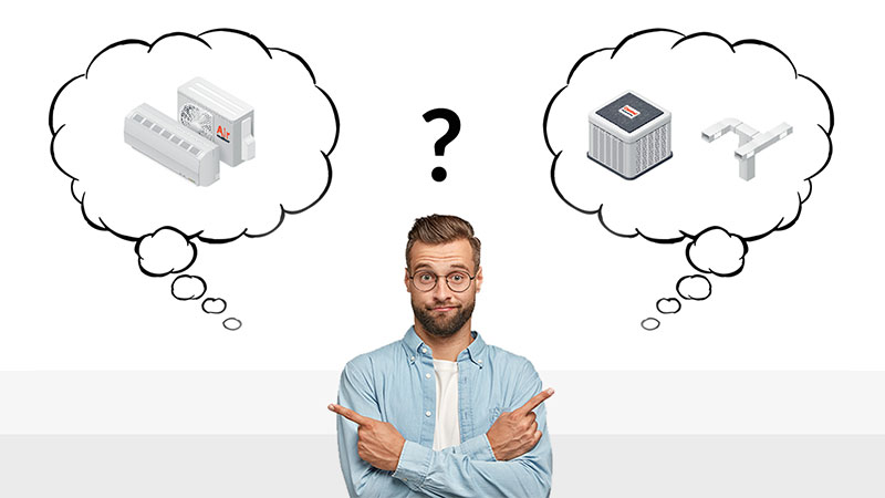 Ducted vs Ductless air conditioners