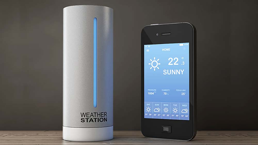 Smart weather station predicting the weather.
