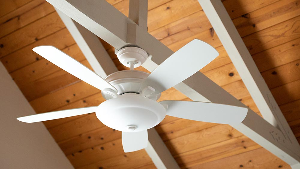Ceiling fan to save money on AC bills