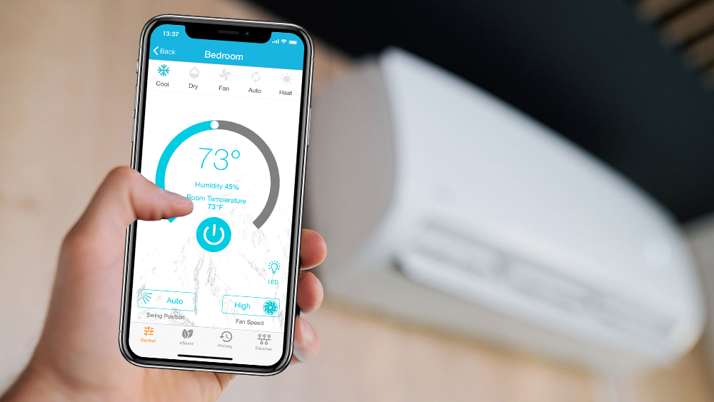 Control your smart AC with your smartphone