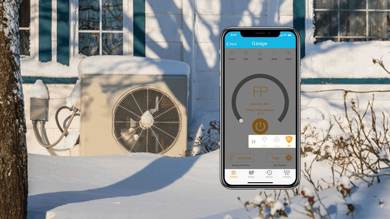 enabling freeze protection mode on the cielo home app