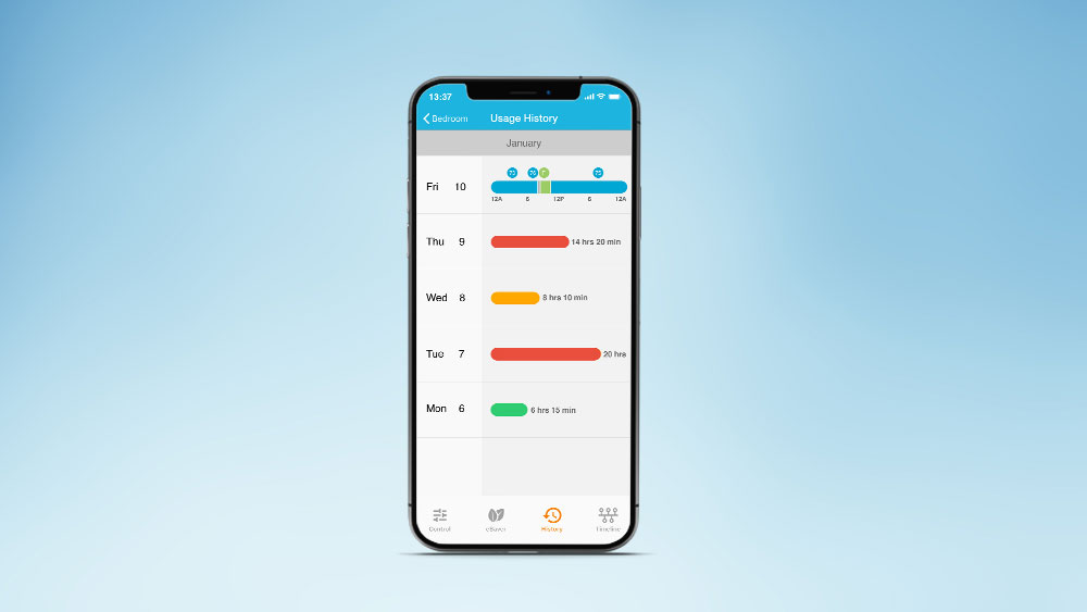 How to control AC with phone? Save energy by checking air conditioner usage history.