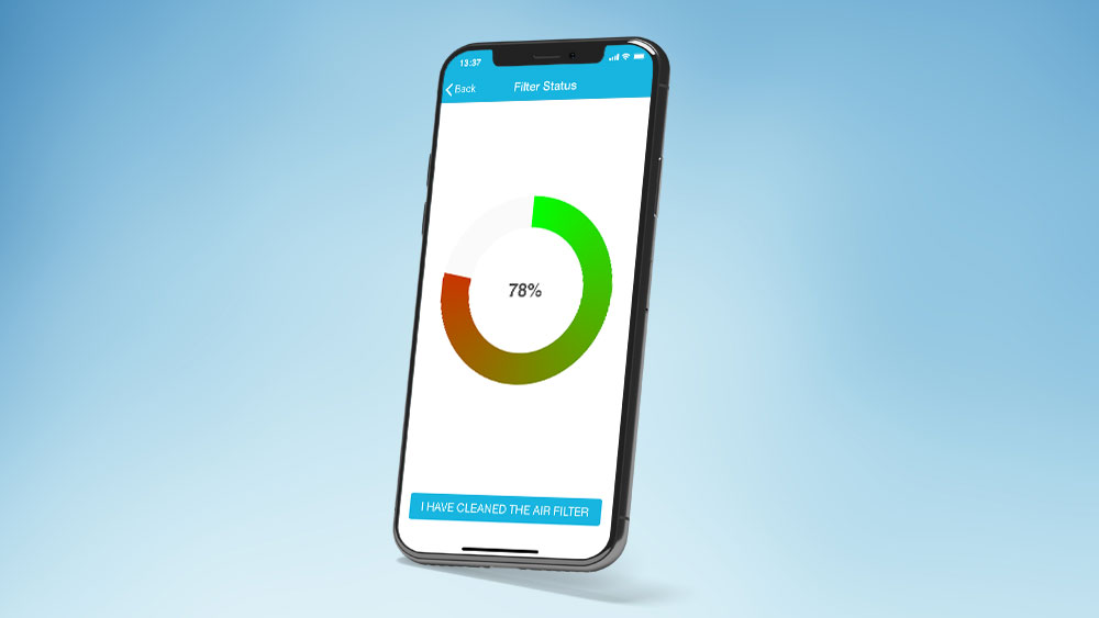 Check air filter status of your air conditioner from your phone