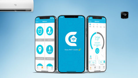 Control air conditioner remotely with smartphone.