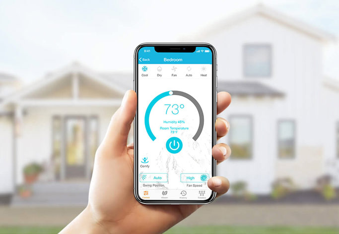 controlling ac from outside the home with cielo home smart ac mobile app