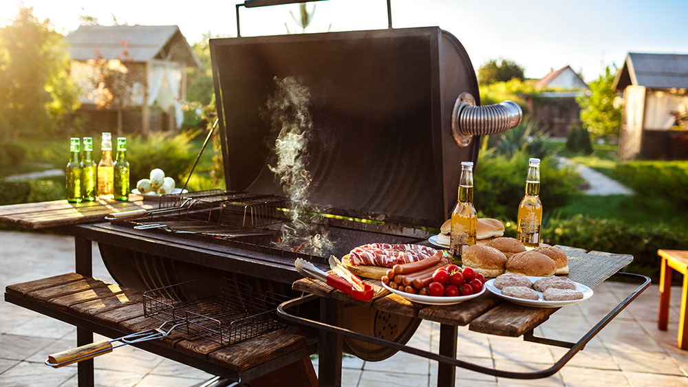 barbecue - energy saving tip - cook outdoors when its hot