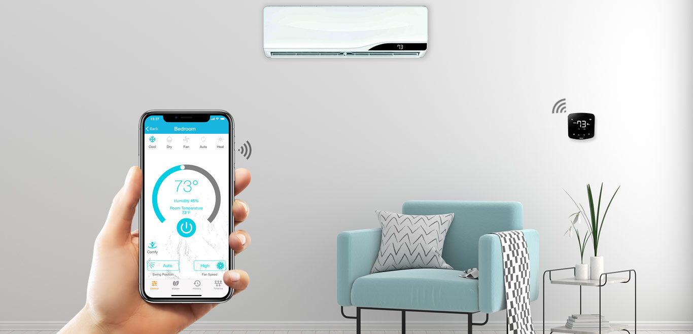 Control your air conditioner with Cielo Home mobile application available on google play store and apple app store.