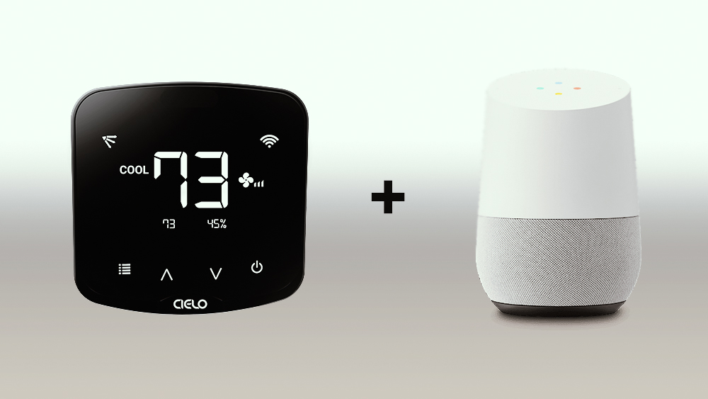 Cielo Breez controllers for air conditioners are compatible with Google Home.