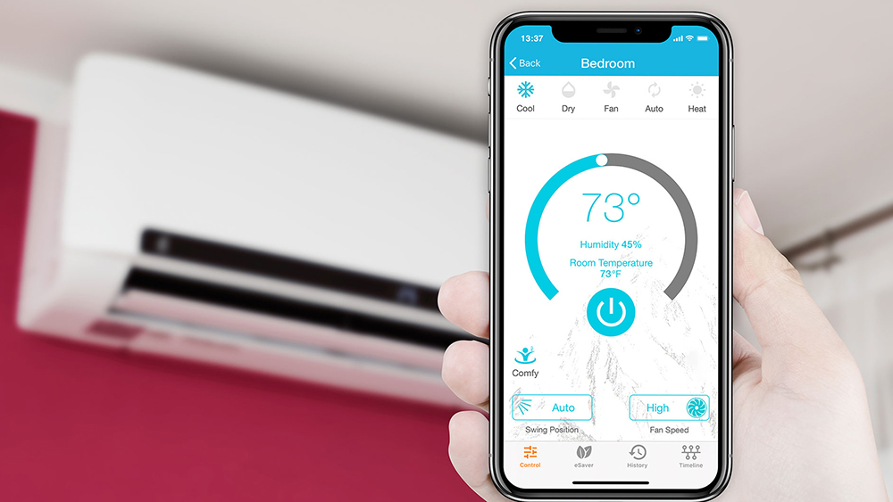Control your AC with WiFi using a smart air conditioner.