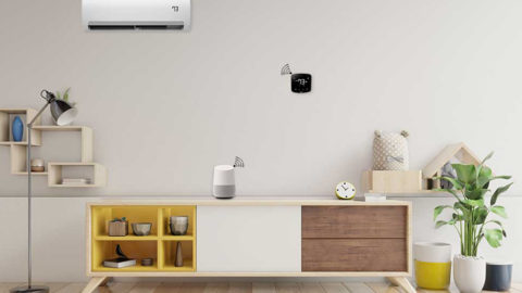 Control air conditioner with Google Home voice commands.
