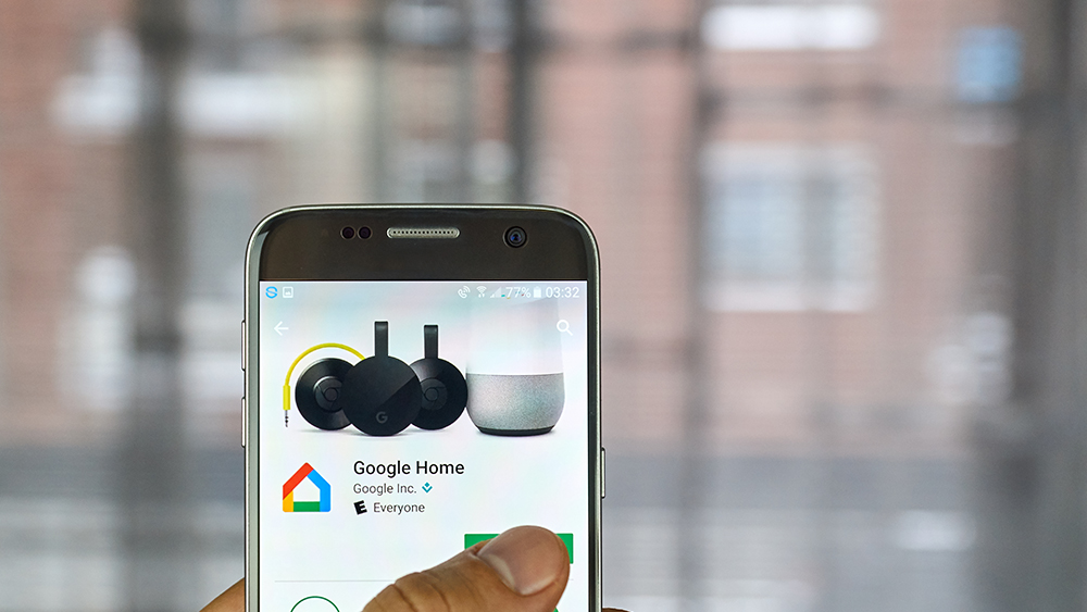 Steps to set up your air conditioner with Google Home voice commands.