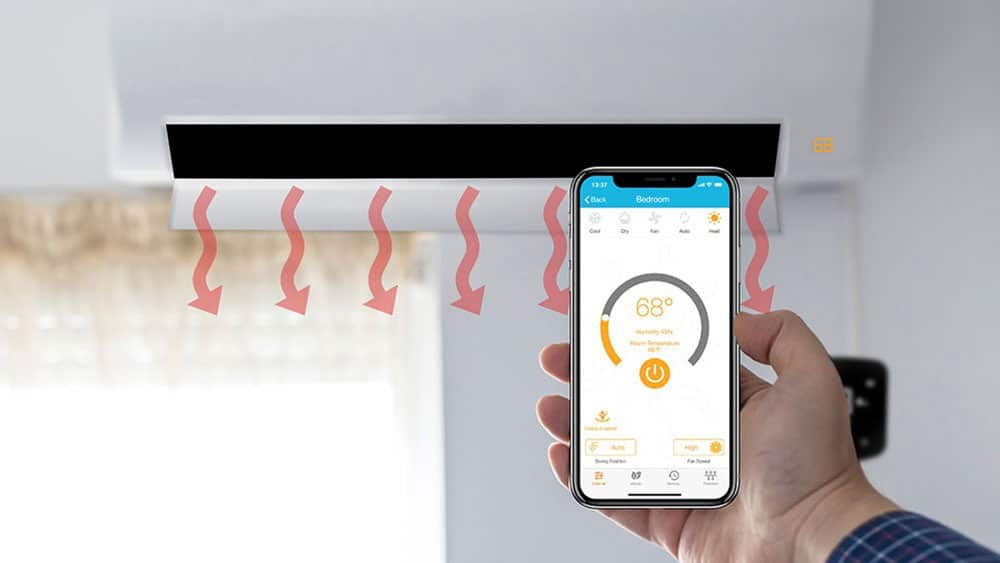 Using a smart AC controller to heat room using a mini-split during winter.