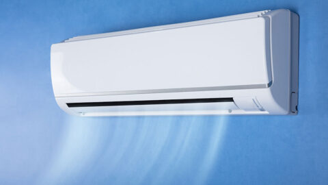 Ductless Heat pump on the wall