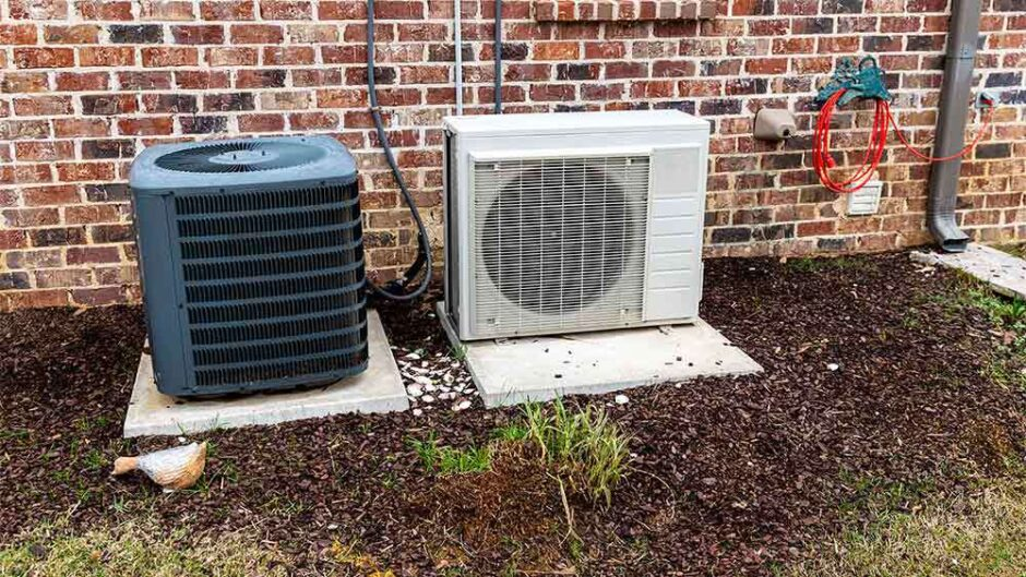 AC outer in the lawn