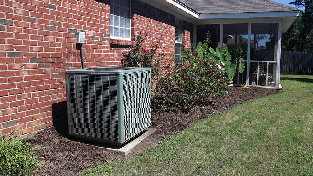 Central AC outer in the backyard.