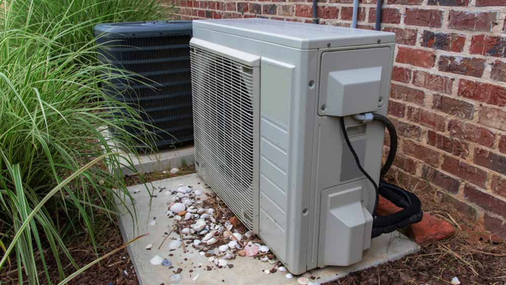 Dirty outdoor unit of an AC.