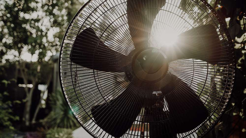 Stay cool without AC by using a fan