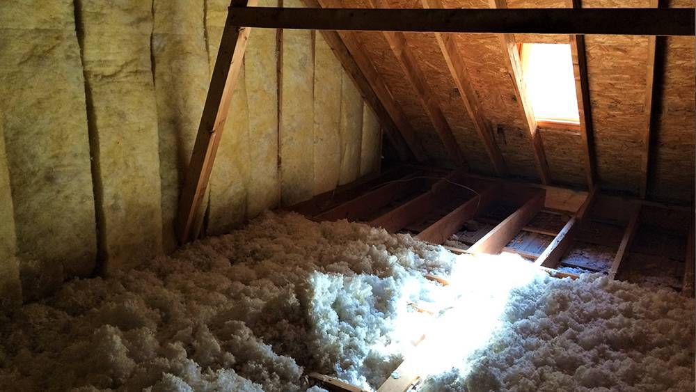 Loose fill or blown in insulation
