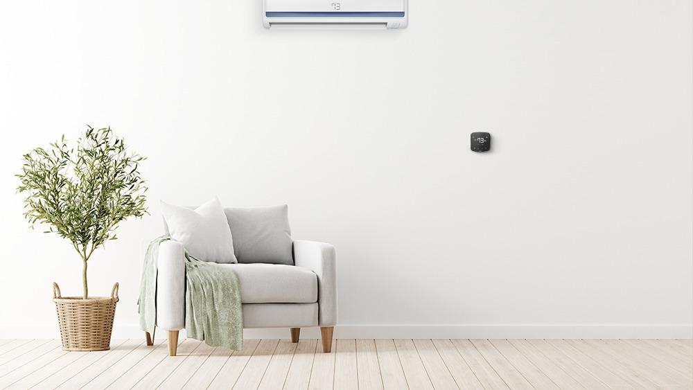 Cielo Breez smart AC controller paired with a mini-split AC