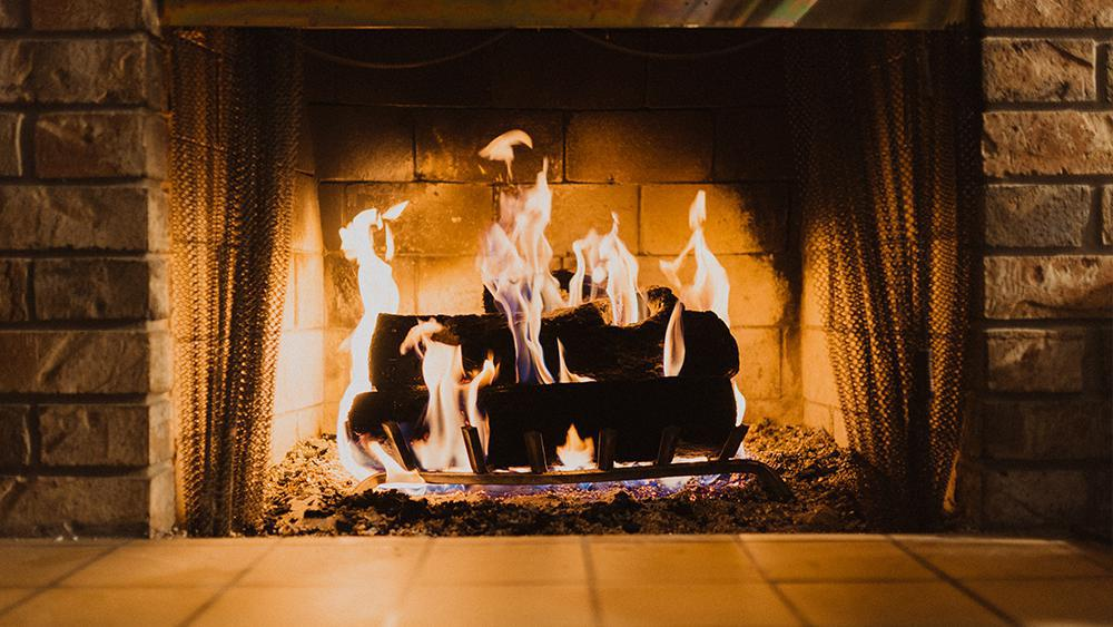 Indoor fireplace. Checking your fireplace is one of the important ways you can weatherize your home
