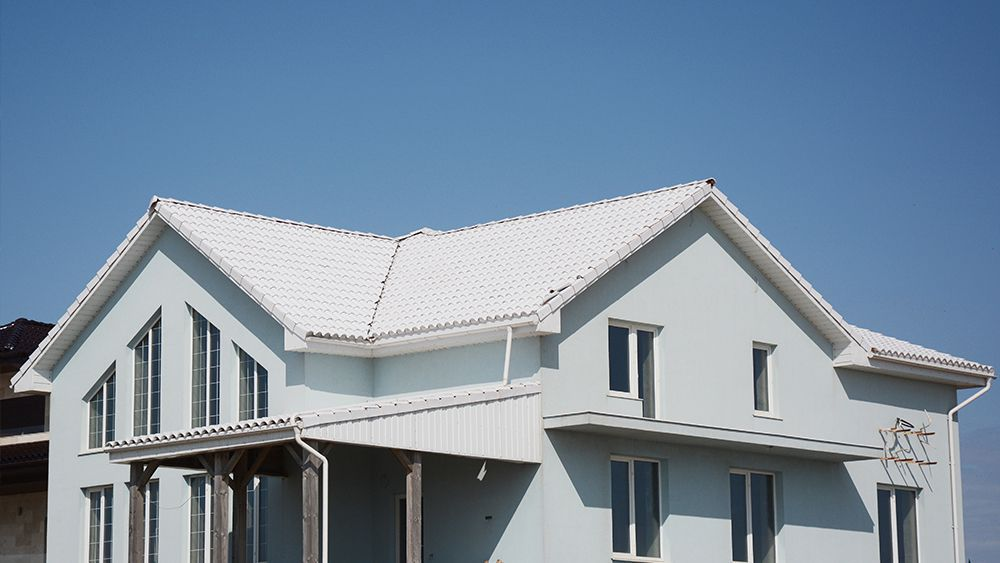 White colored roof