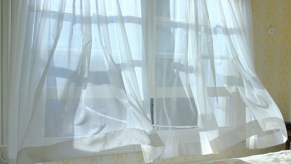 Cool breeze coming through the window - helps to keep the house cool in summer