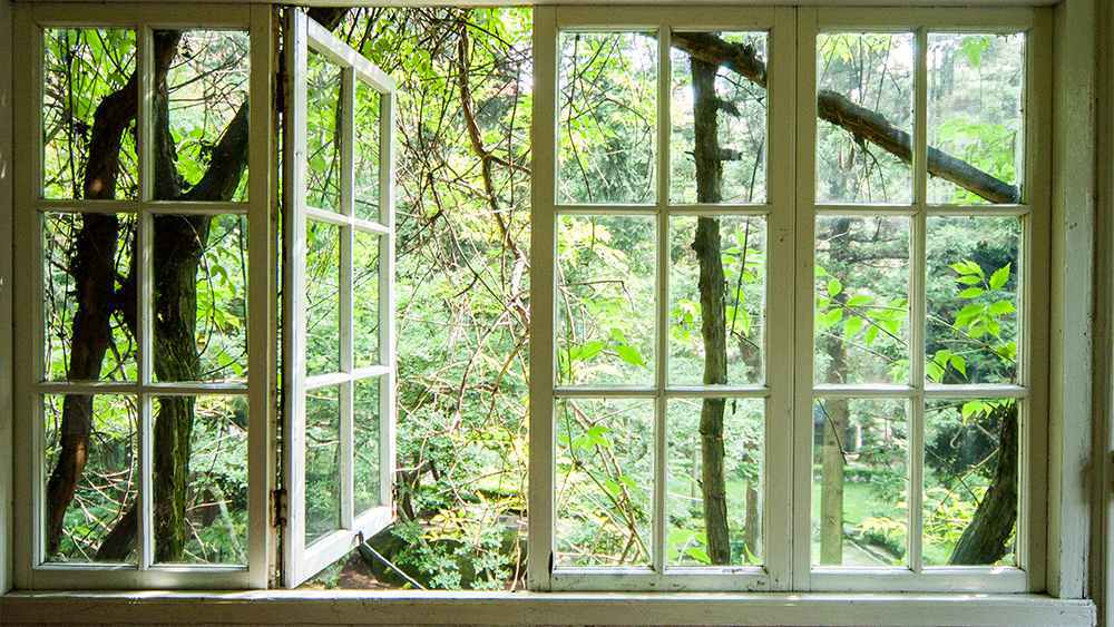 Open windows to let the cool breeze in