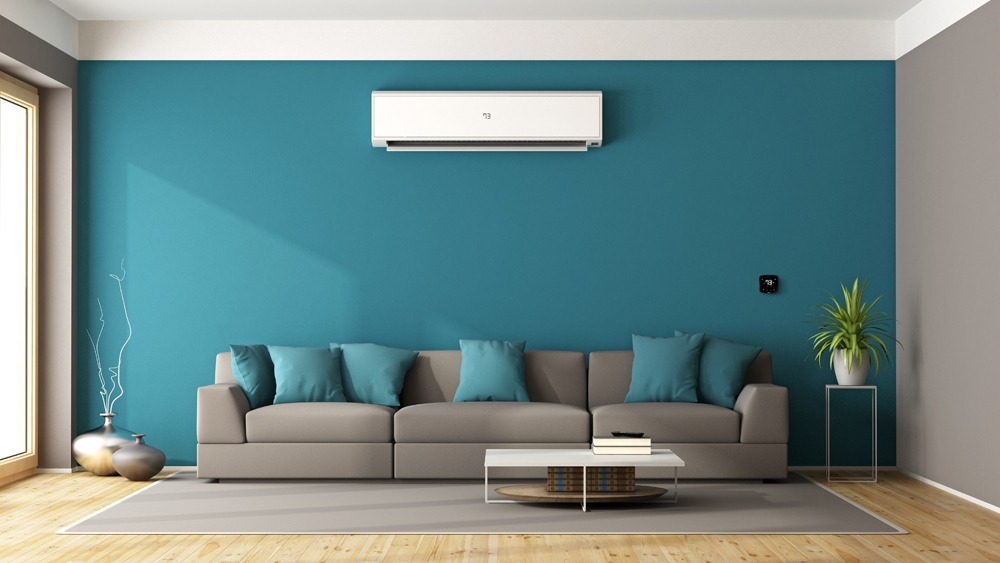 Mini-split installed with Cielo Breez smart AC controller to maintain ideal room temperature