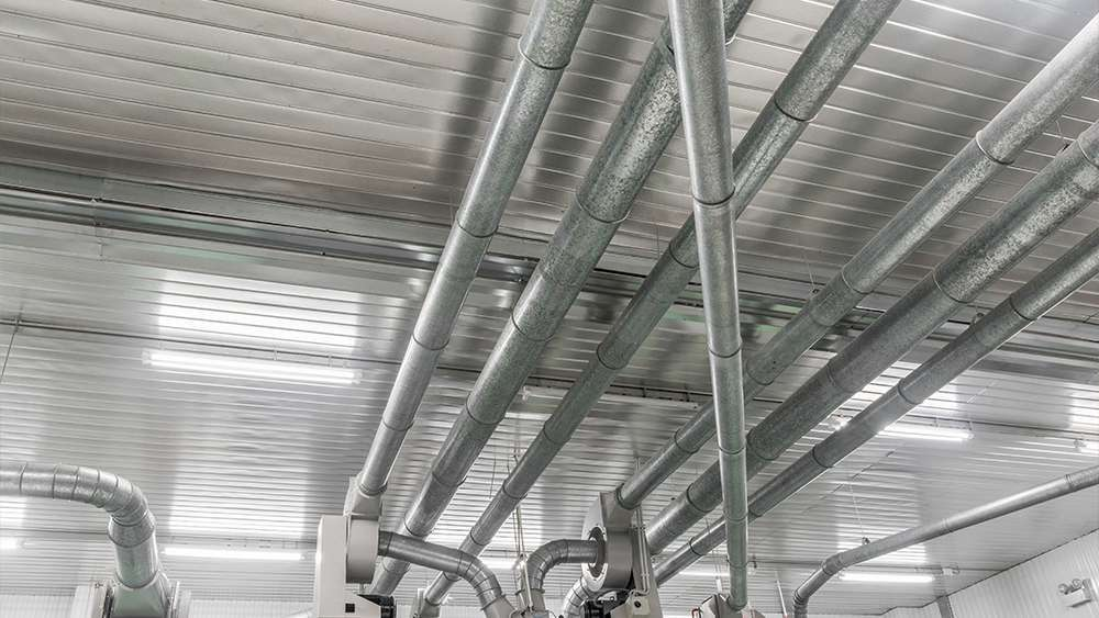 Poorly insulated ductwork