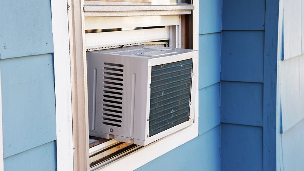 Window air conditioner for your air conditioned shed